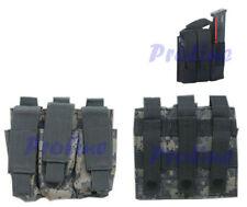 MOLLE Triple Pistol Mag Magazine Pouches, Mag Pouch, Belt Worn-ACU