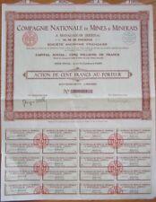 1929 Mining Stock/Bond Certificate - Imerina/Madagascar