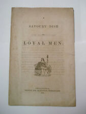 1863 Loyal Men Pamphlet ~ 149Th Pa Bucktails ~ Rosecrans Deleware Governor