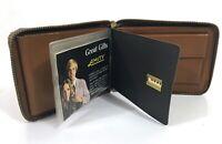 New Vintage 1960s Amity Wallet Cowhide Brown Snap lock Bi Fold #B9