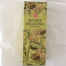 Money Drawing hem incense 6 packs with 20 sticks per pack total 120 sticks