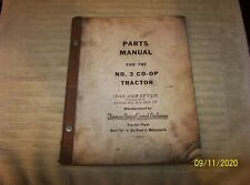 2 - VINTAGE NATIONAL FARM MACHINERY CO-OPERATIVE No. 3 TRACTOR MANUALS