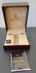 EMPTY Elgin Wrist Watch Box (case) + Paper