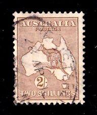 Australia 1915 Kangaroo 2/- Brown 2nd Watermark Used
