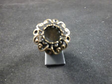Grande Regolabile Nero Cabochon stile round Cocktail / OVERSIZE FASHION RING