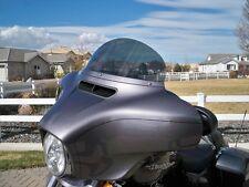 Harley Windshield - 2014-2018 - Touring / Bagger - 9 in Medium Gray Windshield