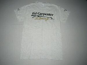 Ed Carpenter #20 Fuzzy Vodka Men's Gray Inaugural Indy Car Racing Shirt Size S