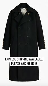 ZARA SRPLS OFFCR CT 05 OFFICER COAT BLACK NEW FW2020 SIZES XS S REF. 8673/010