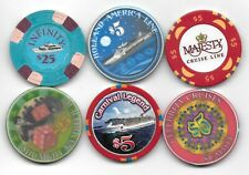 6 Casino Chip Lot From Day Gambling Boats Or Various Cruise Lines-Lot 8