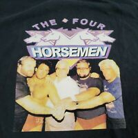 Vtg NWA WCW Mens 2XL The Four Horsemen Ric Flair Wrestling T Shirt Black 90s