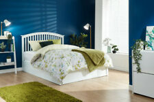 MADRID WOODEN OTTOMAN STORAGE BED WHITE OR OAK COLOUR 4FT6 OR 5FT GFW