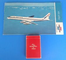 VTG UNITED AIRLINES PASSENGER AIR ATLAS/MAP By Jeppesen & PLAYING CARDS 1962