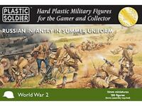 15MM RUSSIAN INFANTRY IN SUMMER UNIFORM - PLASTIC SOLDIER COMPANY PSC - WW2