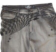 Akademiks Akdmks jeans 40 urban hip hop grunge punk  Smoke Color jeans