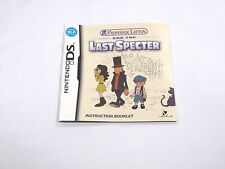 Professor Layton and the Last Specter Instruction Manual Booklet ONLY!! (DS)