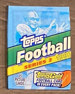 1992 Topps football series 2 Sealed Pack 15 cards per pack!!!
