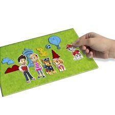 John Adams Kids Fuzzy Felt Paw Patrol Mix Match Picture Creative Playset Toy Kit