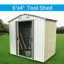 6'x4' Outdoor Garden Storage Shed Patio Tool House Mental Toolshed Utility Lawn