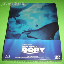 BUSCANDO A DORY DISNEY PIXAR BLU-RAY 3D + 2D NUEVO Y PRECINTADO STEELBOOK