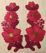 New listing Floral Patches Iron On Pink Rd Gold Lot 2