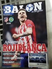 ATLETICO MADRID v SPORTING PORTUGAL 05/04/2018 PROGRAMME EUROPA LEAGUE QUARTER F