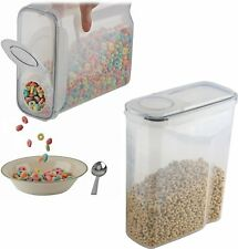 2 Pack Large Cereal Keeper Food Storage Container, Leak proof, BPA Free