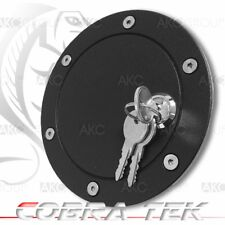 Cobra Tek For 2004-2008 Ford F150 Key Lock Black Powder Aluminum Fuel Gas Door