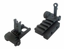 NEW DLP Tactical Minimus Metal Folding Front & Rear BUIS Iron Sight Set sights