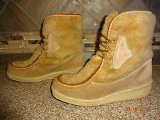 Vintage Womens #56603 Sz 8 Faux Fur Tan Fashion Winter Boots Ski