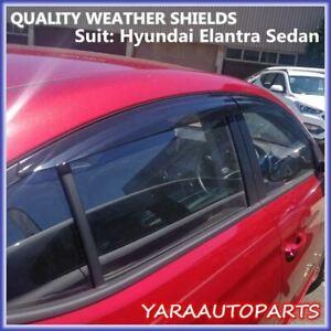 QUALITY Weather shields Window visor for HYUNDAI ELANTRA Sedan 2016-2020 Tinted
