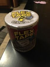 New listing Flex Tape Strong Rubberized Waterproof Tape Clear 4 in. X 5 ft. (Free Shipping!)