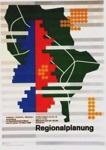 Original vintage poster REGIONALPLANUNG URBAN DESIGN 1968
