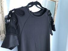 HRH COLLECTION Women's BLACK MINI TUNIC SHORT SLEEVE SIZE S/M