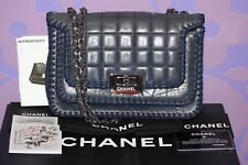 CHANEL Chocolate Bar Square Stitch Quilt CROCHET Reissue 2.55 Flap Bag *LIMITED*