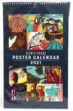 New Disney Parks 12 Month 2021 Attractions Wall Art Poster Calendar