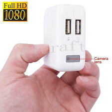 HD 1080P Mini Hidden Spy Camera USB Wall Charger Adapter Video DVR cam Recorder