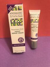Andalou Naturals Resveratrol Q10 Night Repair Cream Organic Moisturizer .4oz