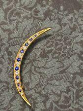 Tiffany & Co. Crescent Diamond & Sapphire Moon Brooch18k