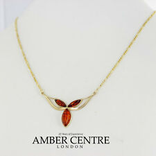 Italian Made Elegant Baltic Amber Necklace in 9ct Gold-GN0063H  RRP£360!!!