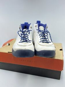1997 Jumpman Pro Original White Silver Midnight Navy Used With Box Size 13