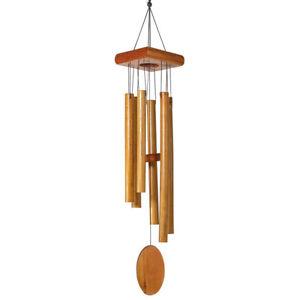 CIM Klangspiel Asia Bambus Windspiel 79cm Glockenspiel Garten Deko In/Outdoor