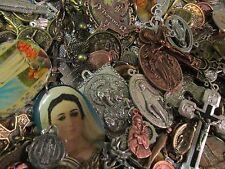 25 Religious Medal Pendant Crucifix Cross Lot #5 Our lady-Saint Random Selection