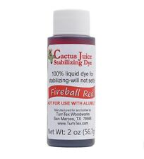 Fireball Red Cactus Juice Stabilizing Dye 2 oz net weight by TurnTex Woodworks