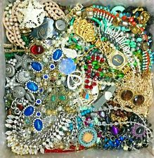 Nice Jewelry Lot ALL GOOD Wear Resell Vintage Now 5 Pc Earring Brooch Necklace