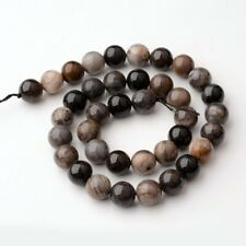 Quartz Grey Marbled Beads Natural  1 Strand 8mm 48 Pieces