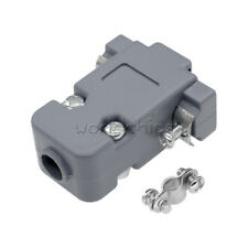 20PCS Grey D-Sub DB9 9Pin Plastic Hood Cover for 9 Pin or 15 Pin Connector