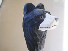 Hand Carved Wood Black Bear 5 ft walking stick Agave strong light weight
