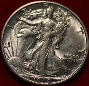 Uncirculated 1944-D Denver Mint Silver Walking Liberty Half