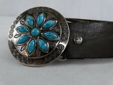 American Eagle Outfitters Belt   Brown Leather  33 - 36  M/M - Turquoise Buckl