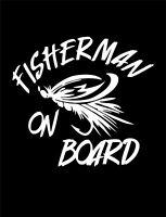 FISHERMAN ON BOARD Sticker Vinyl Decal